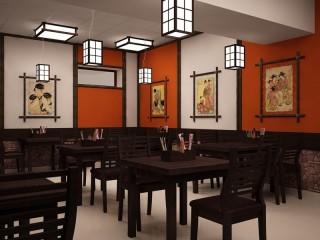Зал японской кухни